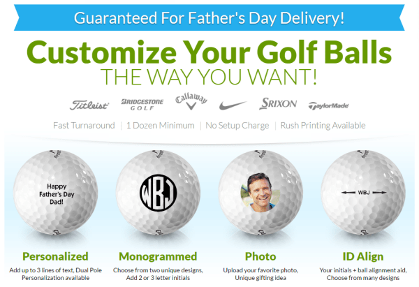 Customized Golf Balls for Father's Day