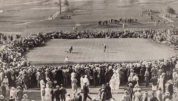 Tommy Armour at the 1927 U.S. Open, image: usgamuseum.com