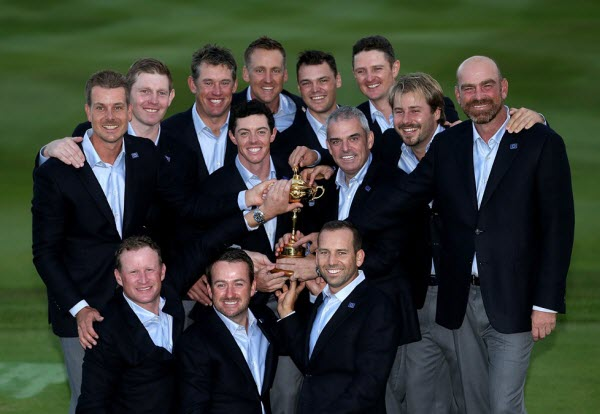 Team Europe after Winning the 2014 Ryder Cup, image: europeantour.com