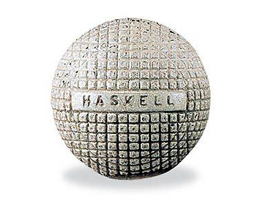 The Original 'Haskell' Golf Ball, image: pinterest.com