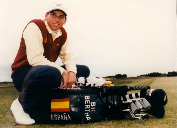 Sergio Garcia in 1998, image: rfegolfdot.es