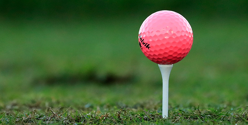Pink Volvik Golf Ball, image: golfmagic.com