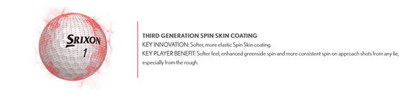Srixon Z-Star 5 and Z-Star XV Spin Skin Coating