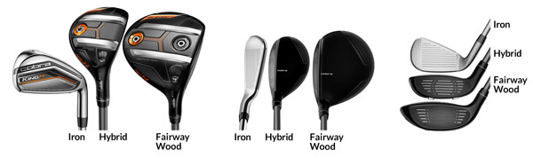 Side by Side Iron, Hybrid & Wood Comparison