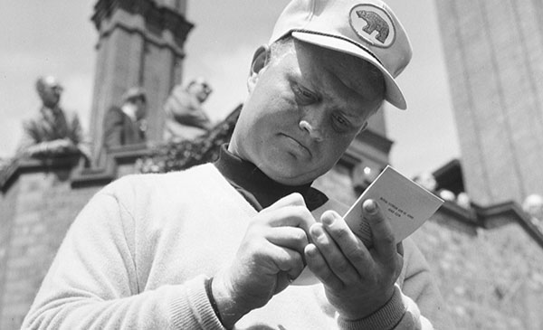 Jack Nicklaus With Yardage Book, image: golfchannel.com