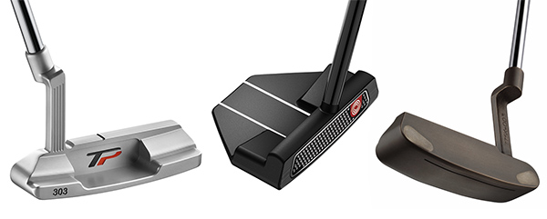 Variety of Putter Designs, image: golfballs.com
