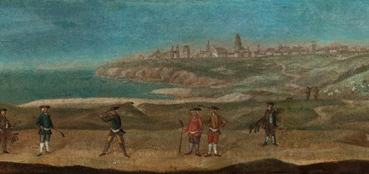 St Andrews, about 1740, Credit to The Royal and Ancient Golf Club of St. Andrews, image: sportsheritagescotland.co.uk
