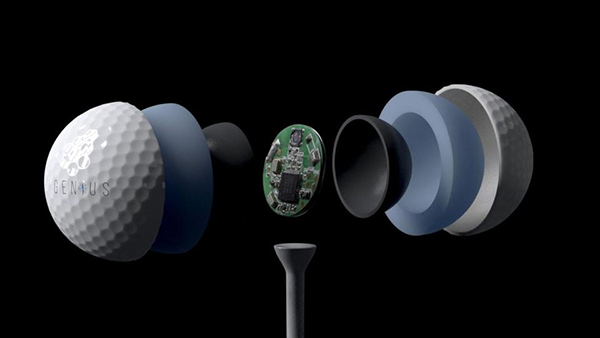 Genius Golf Ball with GPS Tracking, image: refinedguy.com