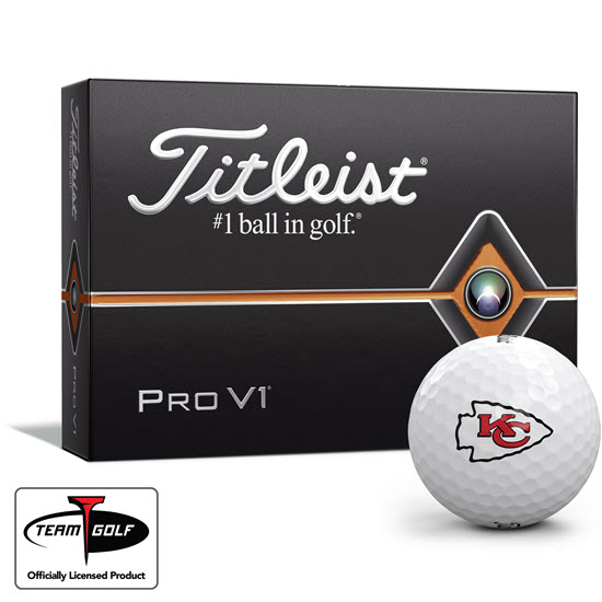 Kansas City Chiefs Titleist Golf Balls Available at Golfballs.com