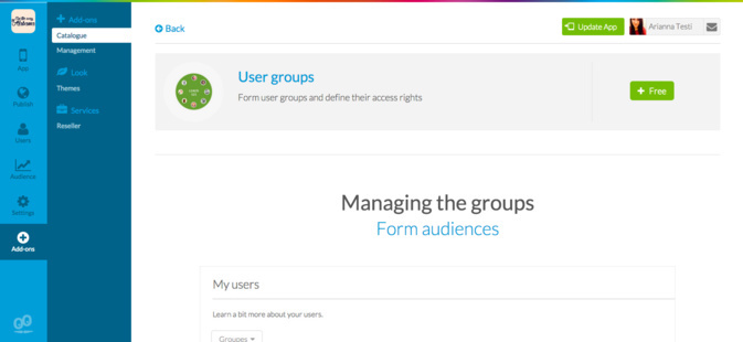 "Torna a tua App mais Social adicionando o novo Add-On ""User Group"""