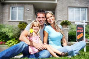 35821664 - family near new house.
