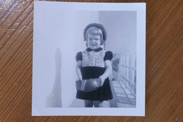 My mother, Alice, age 2 (October 1954)