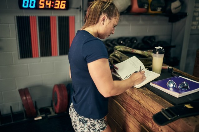 Write down your warm up & workout