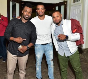 VaShawn Mitchell, Jonathan McReynolds and Todd Dulaney at BMI's Gospel on the Park Brunch, held on June 7 at Park Tavern in Atlanta. Photo Credit: Prince Williams #BMIgospelbrunch