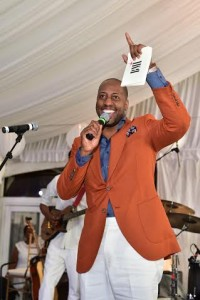Isaac Carree onstage at BMI's Gospel on the Park Brunch, held on June 7 at Park Tavern in Atlanta. Photo Credit: Prince Williams #BMIgospelbrunch