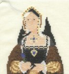 Mary Hickmott's New Stitches Magazine Issue 6. Catherine of Aragon.