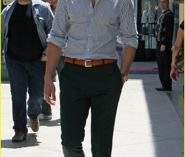 Up Shirt Tucked Into Slacks With A Corresponding Leather Belt And Dress Shoes A La Gos