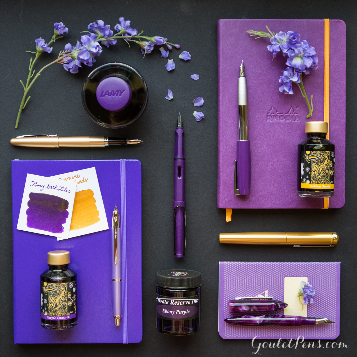 Thursday Things Lilac and Gold  Goulet Pens Blog