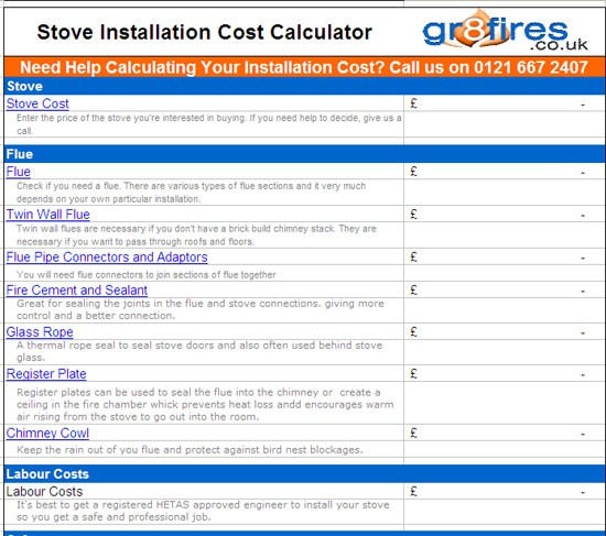 How much does it cost to install a woodburning stove