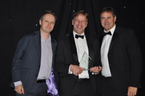 Ben Wallbank, GRAPHISOFT UK, with the 2013 Mobile Technology of the Year Award