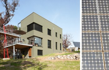 Passive House in the Woods, Town of Hudson, WI: Southwest perspective