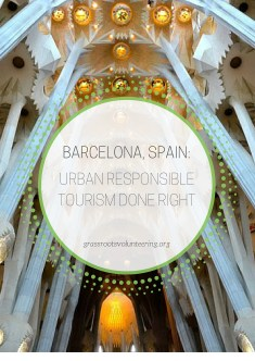 responsible urban travel in barcelona, spain