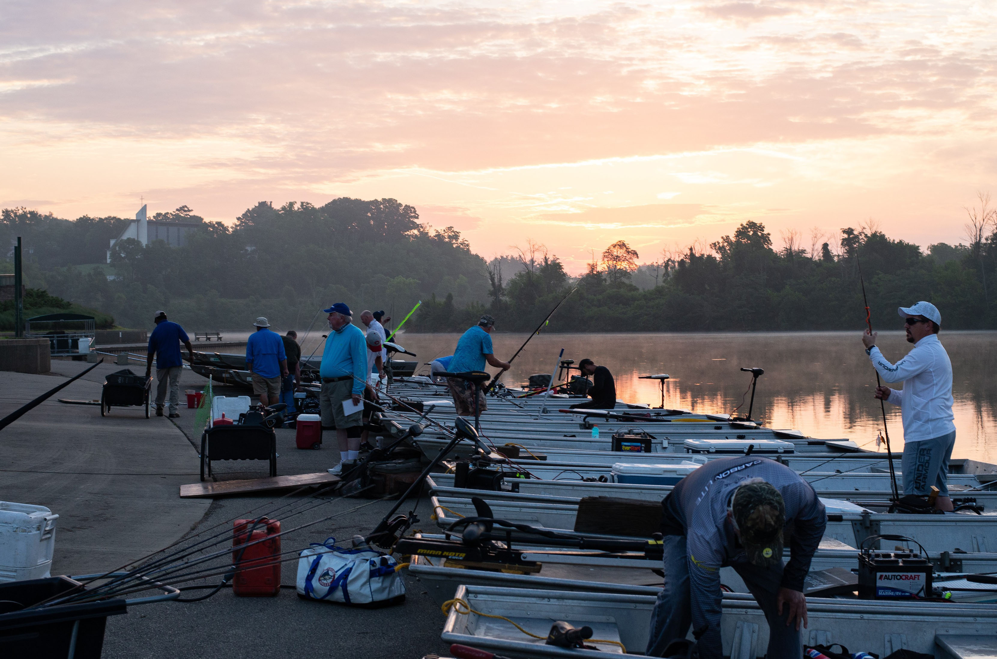 July 14 Bass Series Anglers at Sunrise