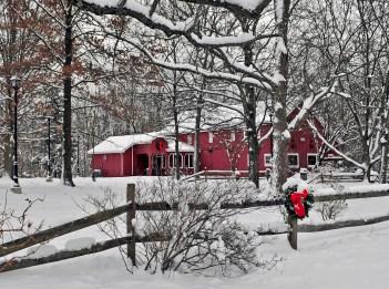 Ellenwood Nature Barn in Snow