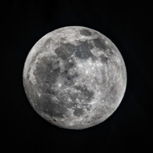 A full moon shows craters on its surface on Jan. 9, 2020.