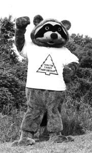 Parky the Raccoon circa the 1980s.