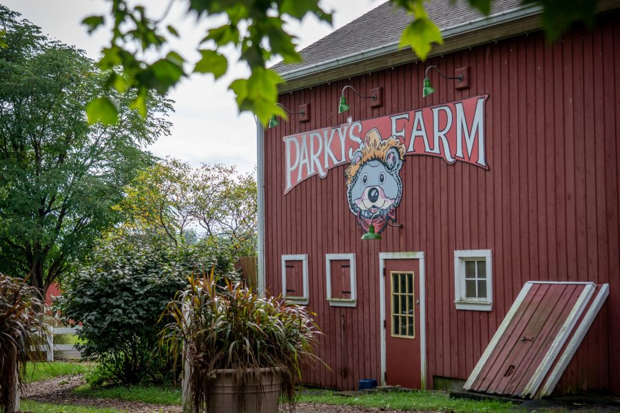 The red barn at Parky's Farm.