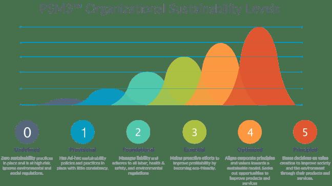 PSM3 organizational sustainability maturity levels.