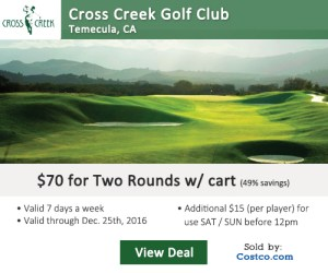 Costco Online Special - Cross Creek Golf Club Tee Times