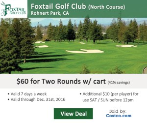 Costco Online Special - Foxtail Golf Club North Course Tee Times