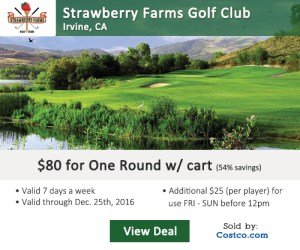 Costco Online Special - Strawberry Farms Golf Club Tee Times