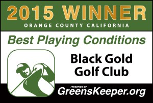 Greenskeeper.Org Best Playing Conditions Award 2015 - Black Gold Golf Club