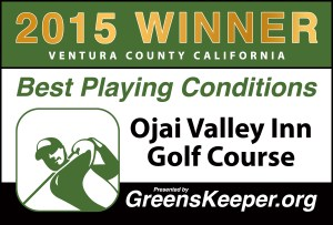 Greenskeeper.Org Best Playing Conditions Award 2015 - Ojai Valley Inn Golf Course