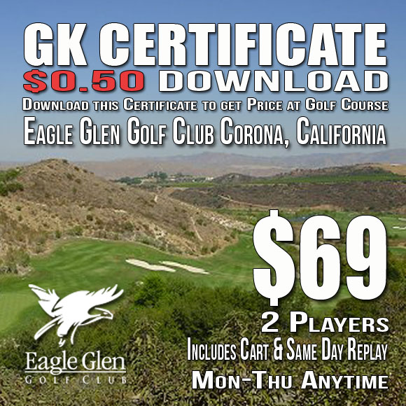 Eagle Glen Golf Club GK Certificate