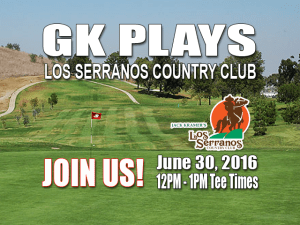 GK Plays Los Serranos Country Club Golf Tee Time Special
