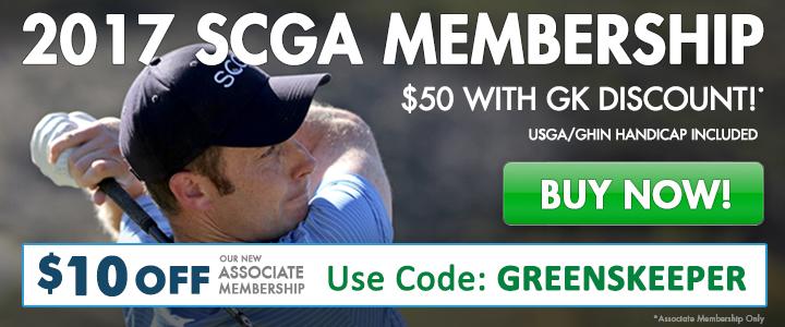 2017 SCGA Membership Use Code GREENSKEEPER