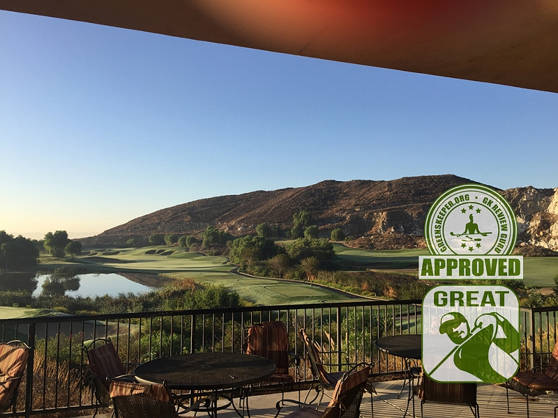 Oak Quarry Golf Club View from Patio Riverside CA