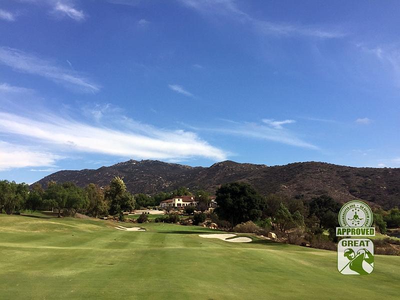 Maderas Golf Club Poway, California. Hole 18 Approach