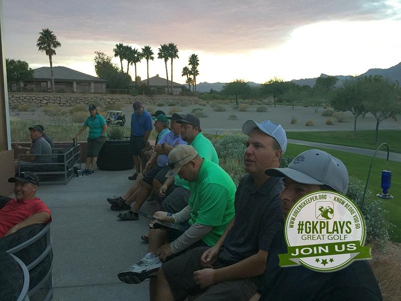 TPC Las Vegas, Las Vegas, Nevada. GDR23, rtucker and others watching the sunset on the patio