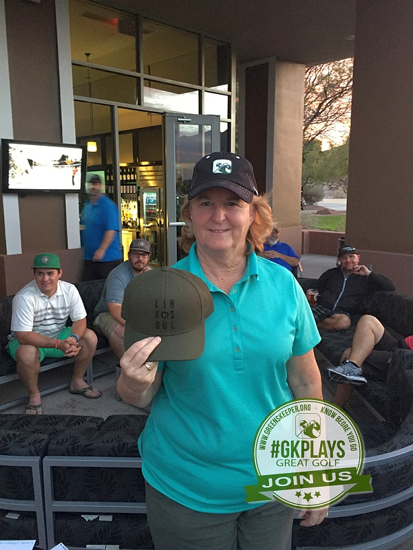 TPC Las Vegas, Las Vegas, Nevada. Colmcd wins her LINKSOUL hat
