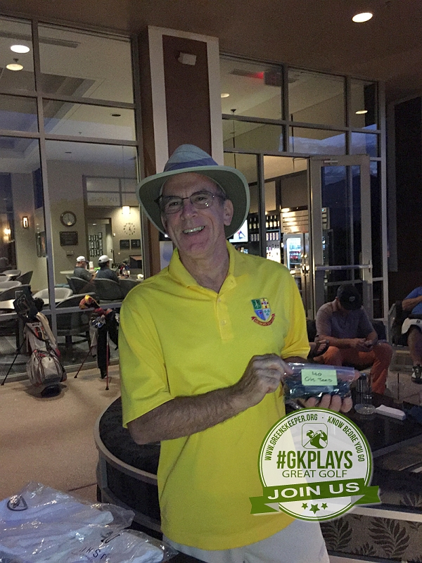 TPC Las Vegas, Las Vegas, Nevada. Wbell57 shows off his bag of Guaranteed Birdie Tees