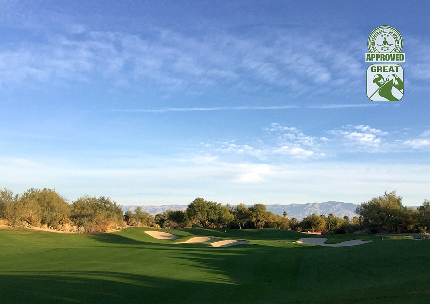 Desert Willow Golf Resort (FIRECLIFF) Palm Desert California. Hole 1 Approach