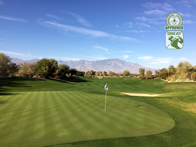 Desert Willow Golf Resort (FIRECLIFF) Palm Desert California. Hole 10