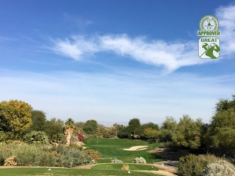 Desert Willow Golf Resort (FIRECLIFF) Palm Desert California. Hole 14