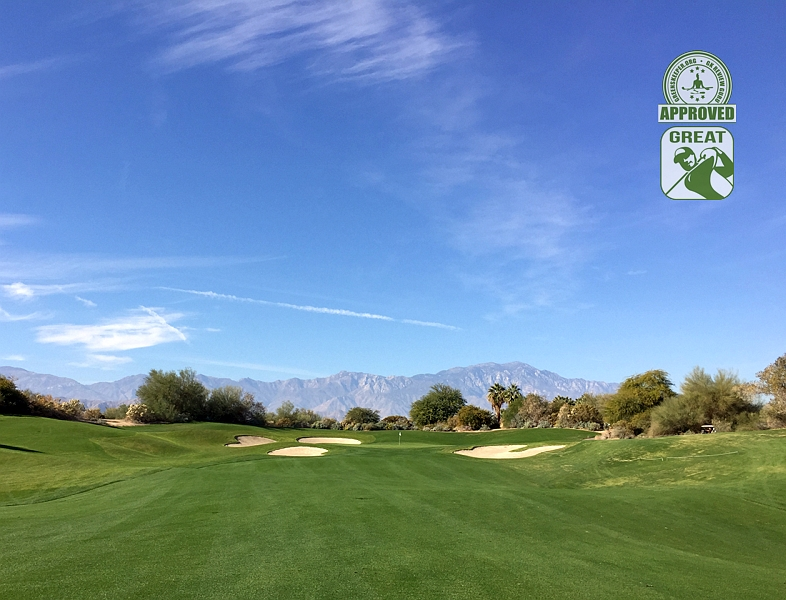 Desert Willow Golf Resort (FIRECLIFF) Palm Desert California. Hole 16