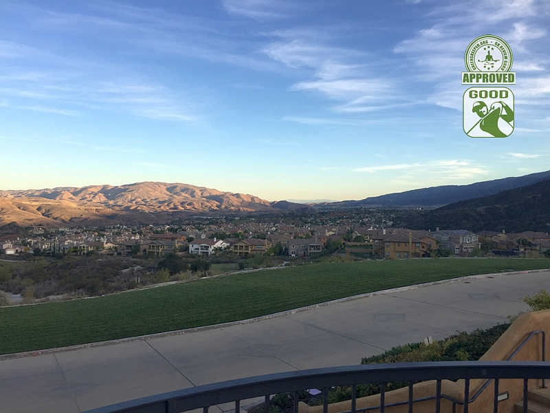 Champions Club at the Retreat Corona, California. View from Clubhouse Balcony